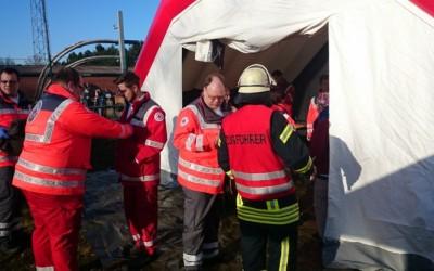 Feuerwehren und DRK meistern Übung in Lathen