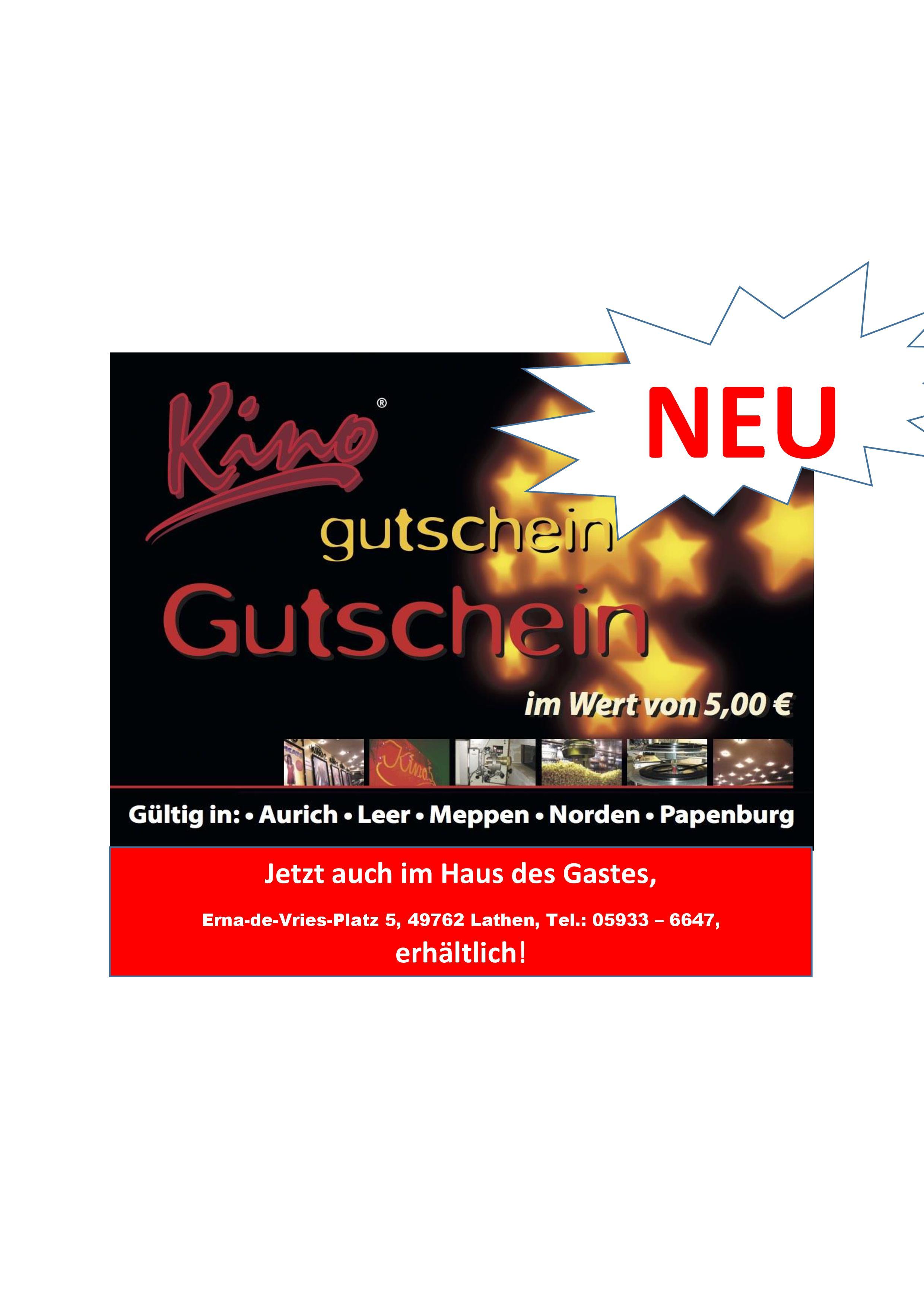 KINO Gutscheine