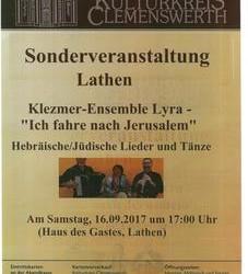 Sonderveranstaltung des Kulturkreises Clemenswerth