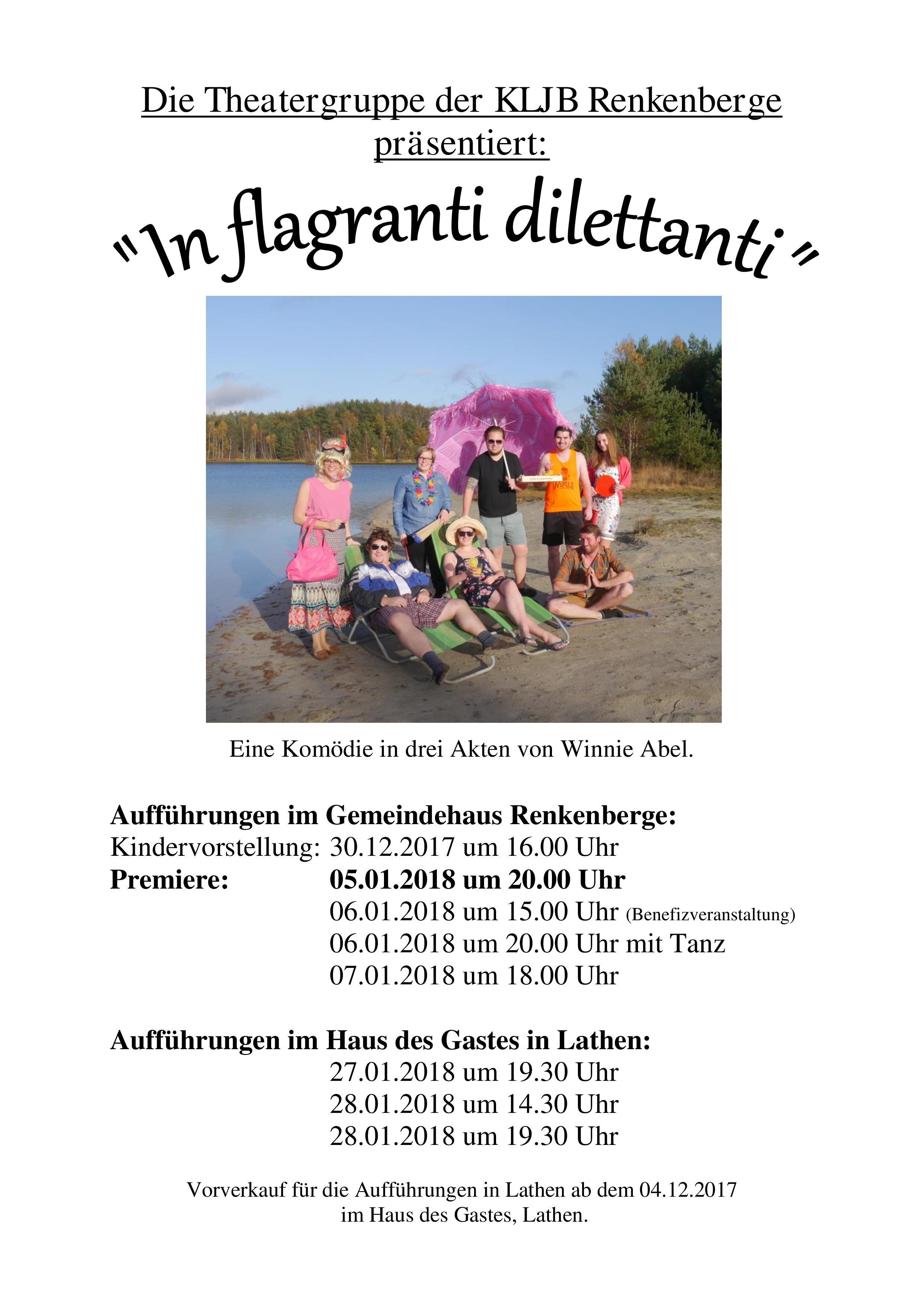 "Theatergruppe Renkenberge ""In flagranti dilettanti"""