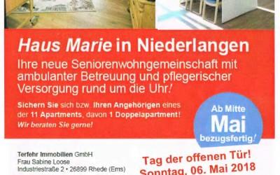 """Tag der offenen Tür – Seniorenwohngemeinschaft """"Haus Marie"""" in Niederlangen"""