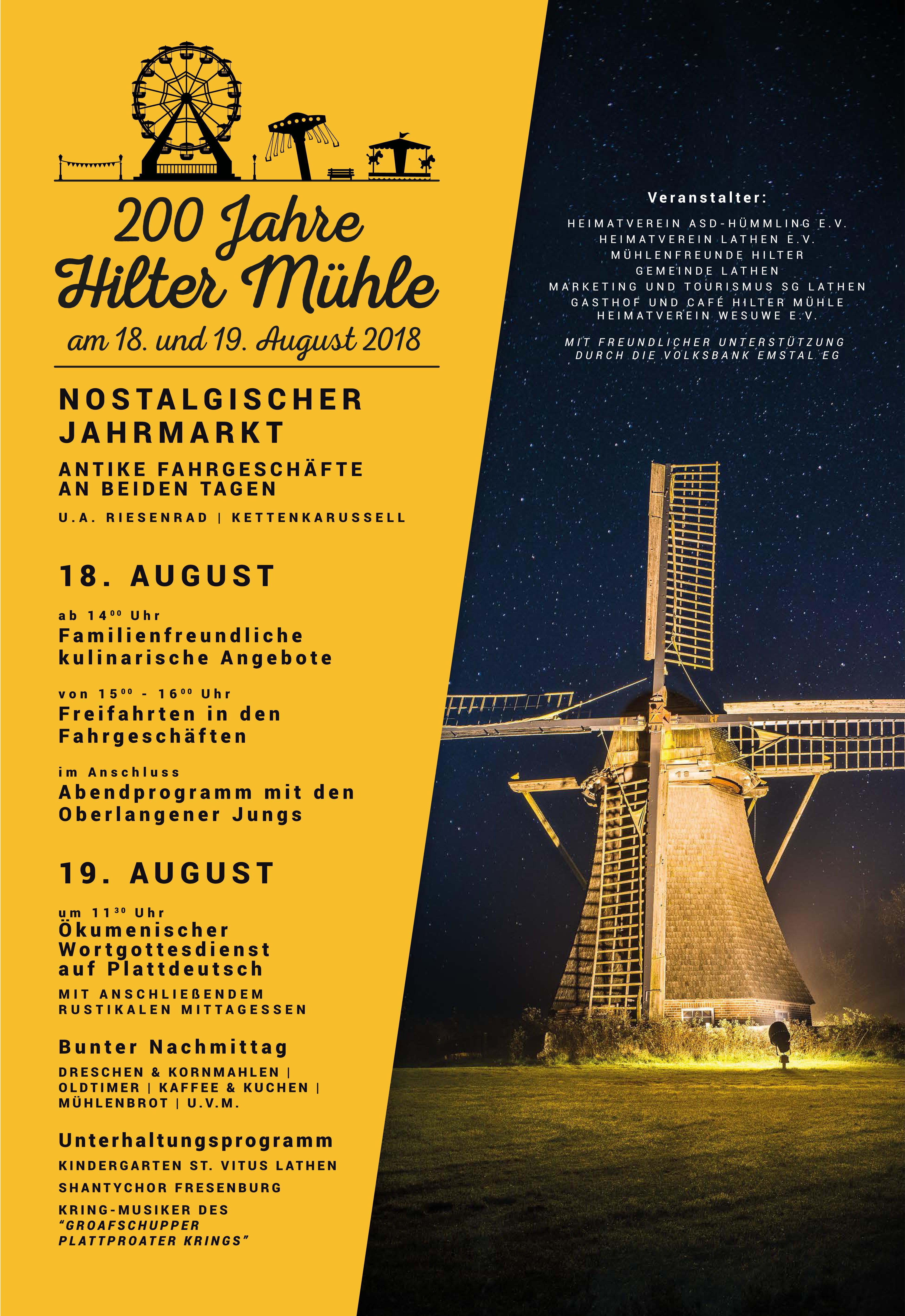 200 Jahre Hilter Mühle