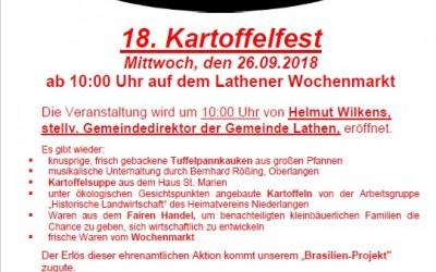 Kartoffelfest auf dem Lathener Wochenmarkt