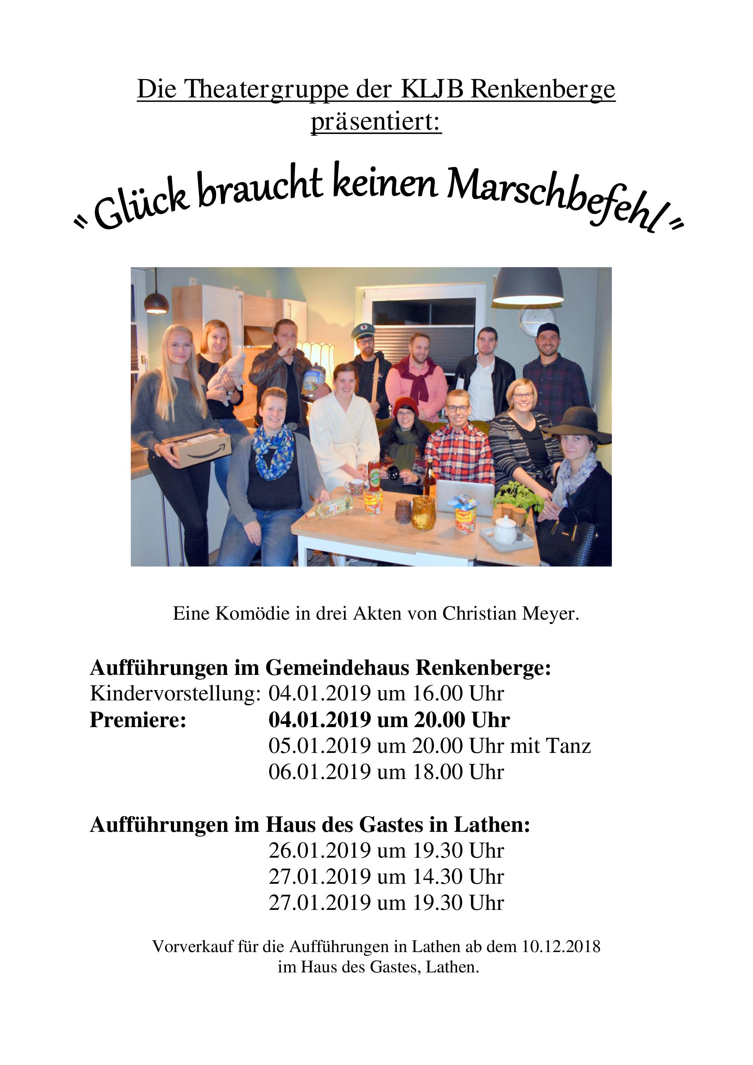 """""""Glück braucht keinen Marschbefehl"""" – Theatergruppe Renkenberge"""