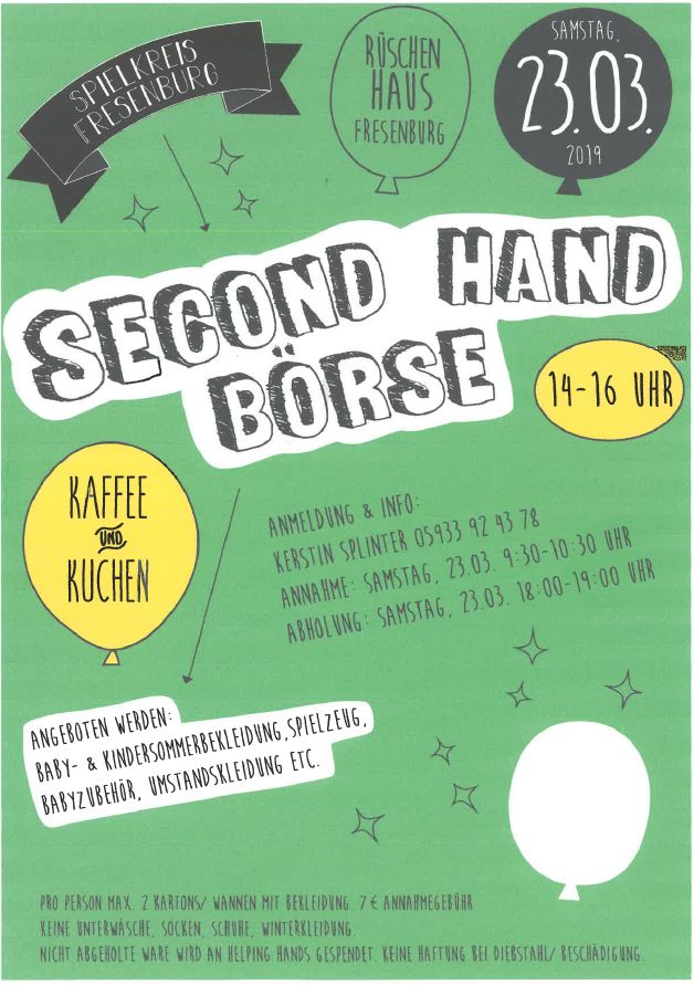 Second Hand Börse am 23.03.2019
