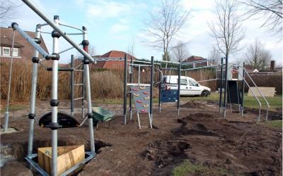 Aufbau eines neuen Kinderspielplatzes