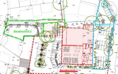 Beginn der Bauarbeiten zur Neugestaltung der Außenanlagen am Kulturzentrum