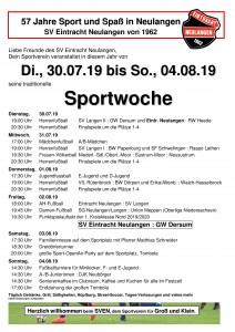 Sportwoche Programmheft