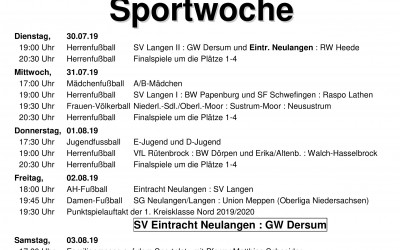Sportwoche Eintracht Neulangen