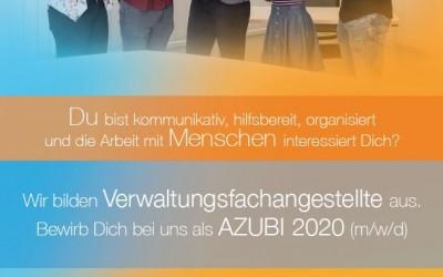 Wir suchen DICH! Bewirb DICH jetzt als Auszubildende/r (m/w/d) 2020!