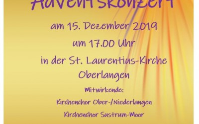 Adventskonzert am 15.12.2019 in der St. Laurentius-Kirche Oberlangen