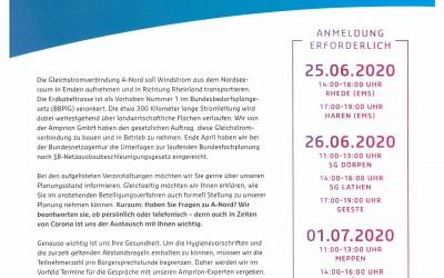 Gleichstromverbindung A-Nord – Einladung zur Bürgersprechstunde