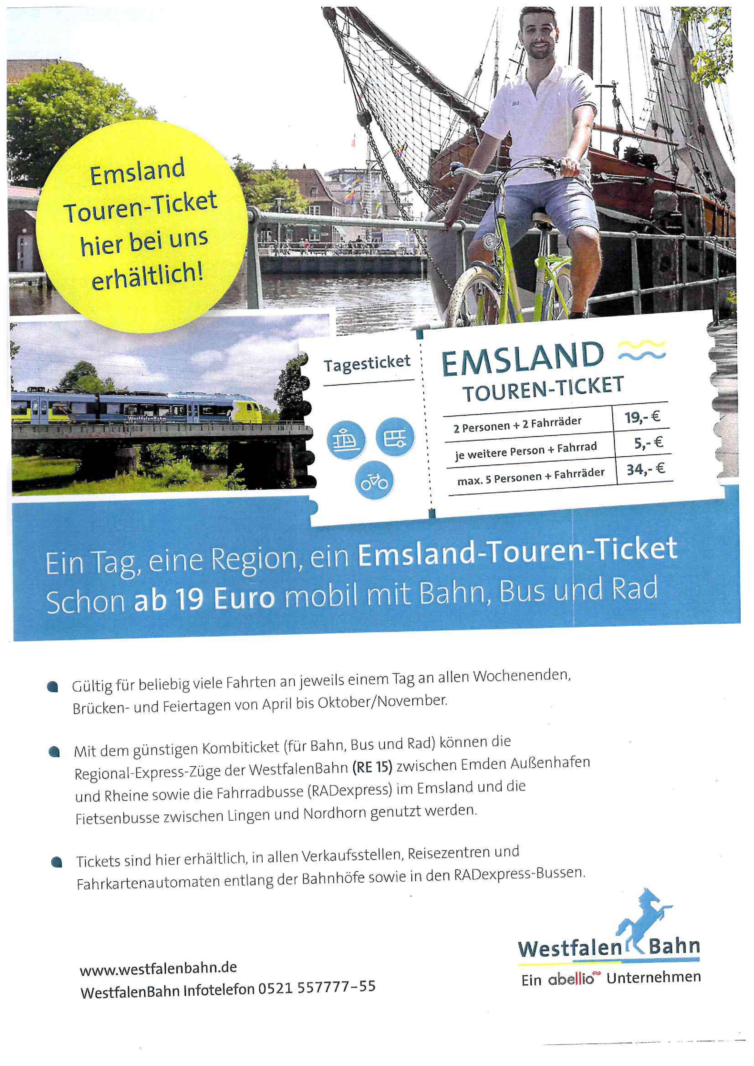Emsland Touren-Ticket