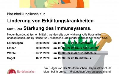 """Vortrag  """"Naturheilkundliches zur Linderung von Erkältungskrankheiten…"""""""
