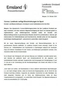 Pressemitteilung Sport Landkreis Emsland