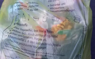 Gelbe Säcke gesichert bereitlegen – AWB (Abfallwirtschaftsbetrieb) bittet um Mithilfe