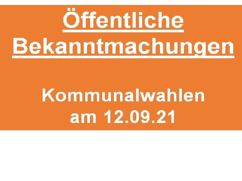 Öffentliche Bekanntmachungen (1., 2. und 3. Wahlbekanntmachung) / Gemeinde Lathen und Samtgemeinde Lathen