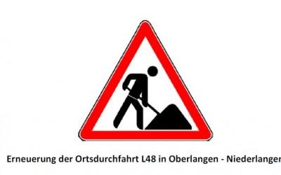 Erneuerung der Ortsdurchfahrt L 48 in Oberlangen