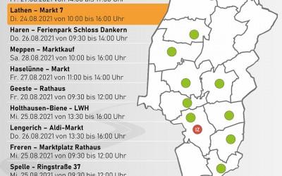 """Impfaktion in Lathen am 24.08.2021 von 10 Uhr bis 16 Uhr im """"Markt 7"""" – ohne Anmeldung"""